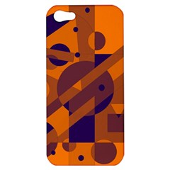 Orange and blue abstract design Apple iPhone 5 Hardshell Case