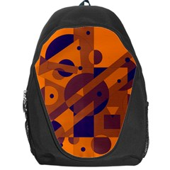 Orange and blue abstract design Backpack Bag