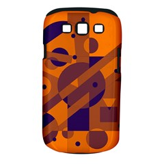 Orange and blue abstract design Samsung Galaxy S III Classic Hardshell Case (PC+Silicone)