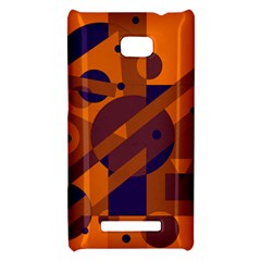 Orange and blue abstract design HTC 8X