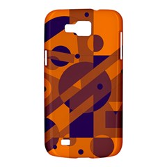 Orange and blue abstract design Samsung Galaxy Premier I9260 Hardshell Case