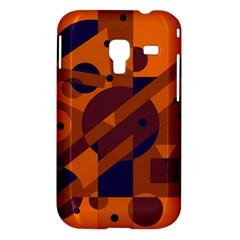 Orange and blue abstract design Samsung Galaxy Ace Plus S7500 Hardshell Case