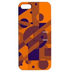 Orange And Blue Abstract Design Apple Iphone 5 Hardshell Case With Stand