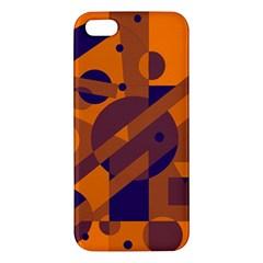 Orange and blue abstract design Apple iPhone 5 Premium Hardshell Case