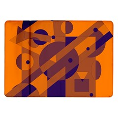 Orange and blue abstract design Samsung Galaxy Tab 10.1  P7500 Flip Case