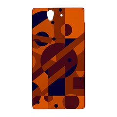 Orange and blue abstract design Sony Xperia Z