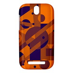 Orange and blue abstract design HTC One SV Hardshell Case