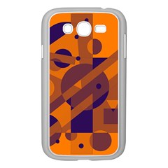 Orange and blue abstract design Samsung Galaxy Grand DUOS I9082 Case (White)
