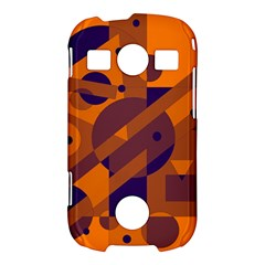 Orange and blue abstract design Samsung Galaxy S7710 Xcover 2 Hardshell Case
