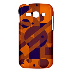 Orange and blue abstract design Samsung Galaxy Ace 3 S7272 Hardshell Case