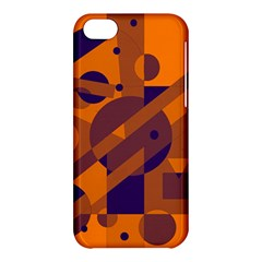 Orange and blue abstract design Apple iPhone 5C Hardshell Case