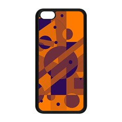 Orange and blue abstract design Apple iPhone 5C Seamless Case (Black)