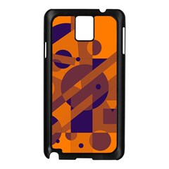 Orange and blue abstract design Samsung Galaxy Note 3 N9005 Case (Black)