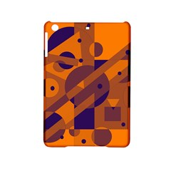 Orange and blue abstract design iPad Mini 2 Hardshell Cases