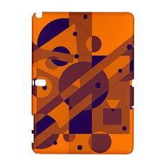Orange and blue abstract design Samsung Galaxy Note 10.1 (P600) Hardshell Case