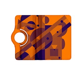 Orange and blue abstract design Kindle Fire HD (2013) Flip 360 Case