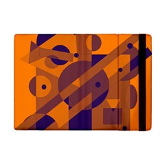 Orange and blue abstract design iPad Mini 2 Flip Cases