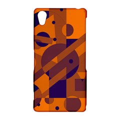 Orange and blue abstract design Sony Xperia Z2
