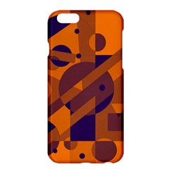 Orange and blue abstract design Apple iPhone 6 Plus/6S Plus Hardshell Case