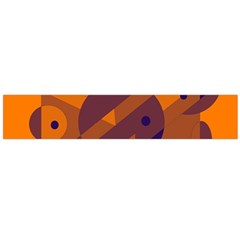 Orange and blue abstract design Flano Scarf (Large)