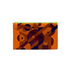 Orange and blue abstract design Cosmetic Bag (XS)