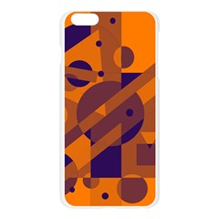 Orange and blue abstract design Apple Seamless iPhone 6 Plus/6S Plus Case (Transparent)