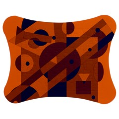 Orange And Blue Abstract Design Jigsaw Puzzle Photo Stand (bow)