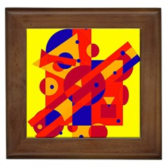 Colorful abstraction Framed Tiles