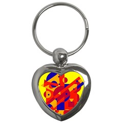 Colorful abstraction Key Chains (Heart)