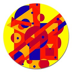 Colorful abstraction Magnet 5  (Round)