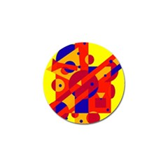 Colorful abstraction Golf Ball Marker