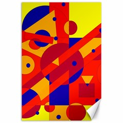 Colorful abstraction Canvas 24  x 36