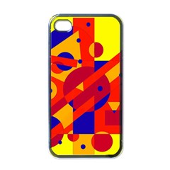 Colorful abstraction Apple iPhone 4 Case (Black)