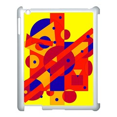 Colorful abstraction Apple iPad 3/4 Case (White)