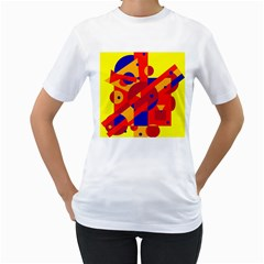 Colorful abstraction Women s T-Shirt (White)