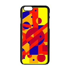 Colorful abstraction Apple iPhone 6/6S Black Enamel Case