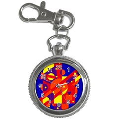 Blue and orange abstract design Key Chain Watches
