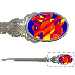 Blue and orange abstract design Letter Openers