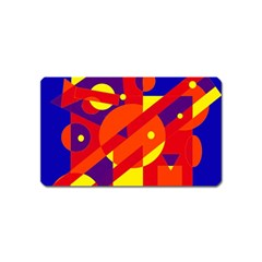 Blue and orange abstract design Magnet (Name Card)