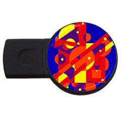 Blue and orange abstract design USB Flash Drive Round (2 GB)