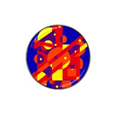Blue and orange abstract design Hat Clip Ball Marker (10 pack)