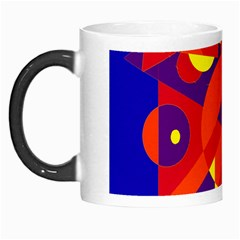 Blue and orange abstract design Morph Mugs