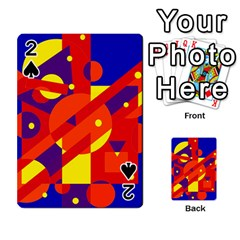 Blue and orange abstract design Playing Cards 54 Designs