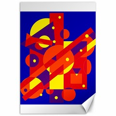 Blue and orange abstract design Canvas 20  x 30