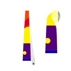 Blue and orange abstract design Neckties (Two Side)