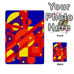 Blue and orange abstract design Multi-purpose Cards (Rectangle)