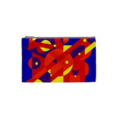 Blue and orange abstract design Cosmetic Bag (Small)