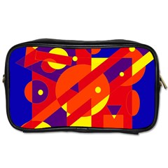 Blue and orange abstract design Toiletries Bags 2-Side