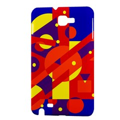 Blue and orange abstract design Samsung Galaxy Note 1 Hardshell Case
