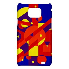 Blue and orange abstract design Samsung Galaxy S2 i9100 Hardshell Case